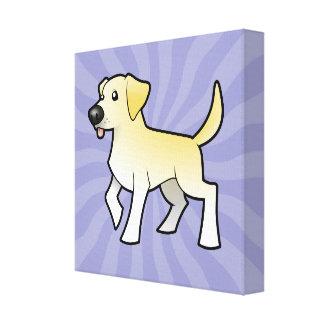 Labrador retriever del dibujo animado impresión en tela