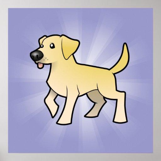 Labrador retriever del dibujo animado impresiones