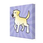 Labrador retriever del dibujo animado impresión en lona