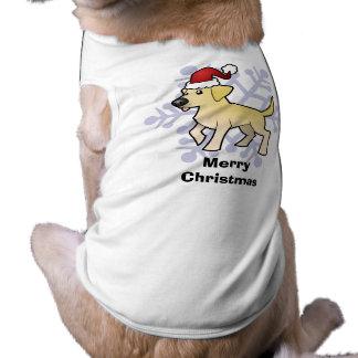 Labrador retriever del navidad playera sin mangas para perro