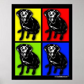Labrador retriever del negro del arte pop póster