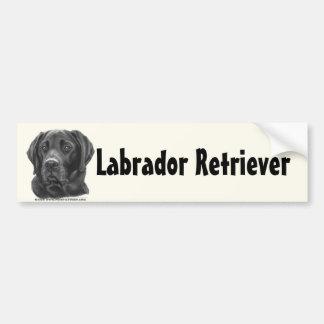 Labrador retriever diesel, negro pegatina para auto