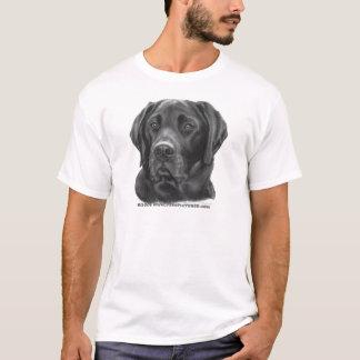 Labrador retriever diesel, negro playera
