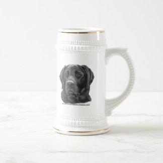 Labrador retriever diesel, negro taza de café
