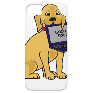 Labrador retriever divertido que come el ordenador iPhone 5 cárcasa