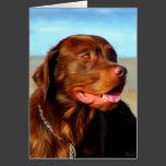 Labrador Retriever Dog Art - Bosco Card