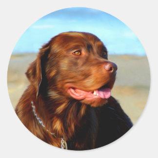 Labrador Retriever Dog Art - Bosco Round Stickers