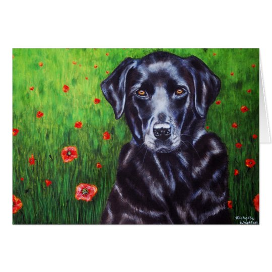 Labrador Retriever Dog Art - Poppy Card