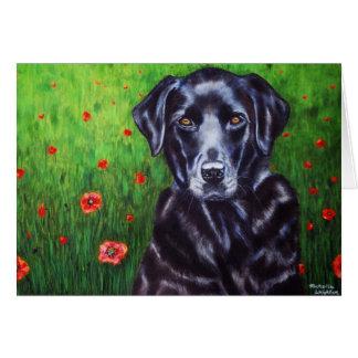 Labrador Retriever Dog Art - Poppy Greeting Card