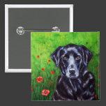 Labrador Retriever Dog Art - Poppy Pinback Button