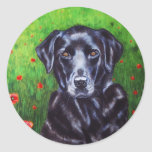 Labrador Retriever Dog Art - Poppy Sticker