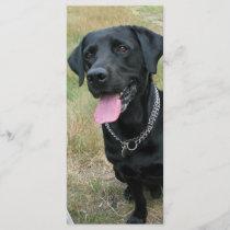 Labrador Retriever dog black bookmark, gift idea