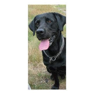 Labrador Retriever dog black bookmark, gift idea Rack Card Template