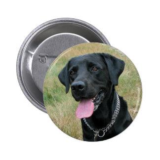 Labrador Retriever dog black button pin, gift idea