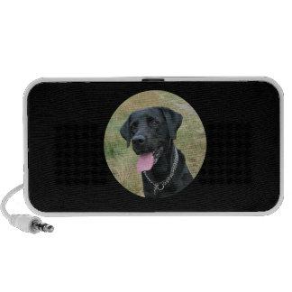 Labrador Retriever dog black doodle speakers
