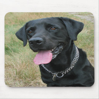 Labrador Retriever dog black mousepad, gift