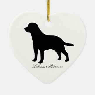 Labrador Retriever dog black silhouette ornament