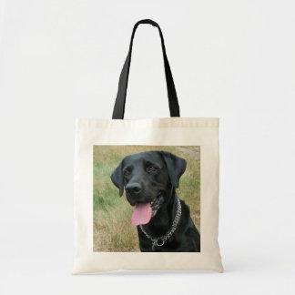 Labrador Retriever dog black tote bag gift idea