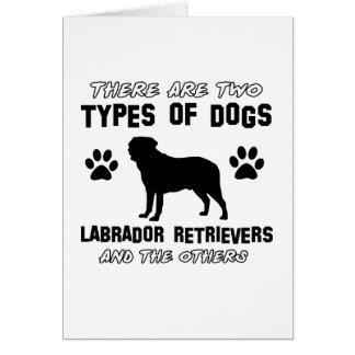 Labrador Retriever dog breed designs Cards