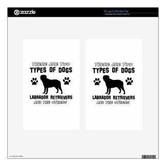 Labrador Retriever dog breed designs Decals For Kindle Fire