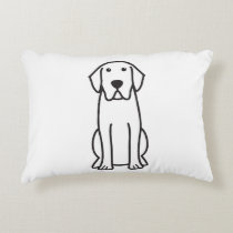 Labrador Retriever Dog Cartoon Accent Pillow