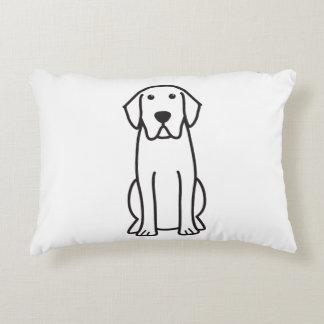 Labrador Retriever Dog Cartoon Accent Pillow