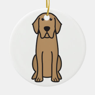 Labrador Retriever Dog Cartoon Ceramic Ornament