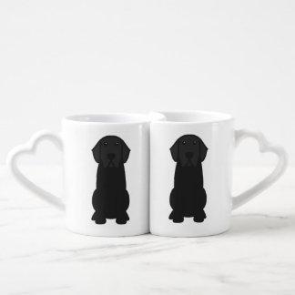 Labrador Retriever Dog Cartoon Coffee Mug Set