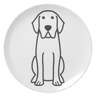Labrador Retriever Dog Cartoon Dinner Plate  sc 1 st  Zazzle & Cartoon Labrador Plates | Zazzle
