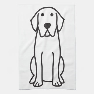 Labrador Retriever Dog Cartoon Hand Towel