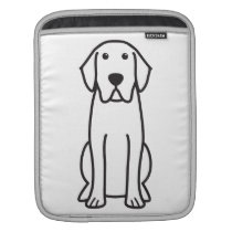 Labrador Retriever Dog Cartoon iPad Sleeve
