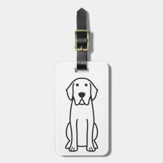 Labrador Retriever Dog Cartoon Luggage Tag
