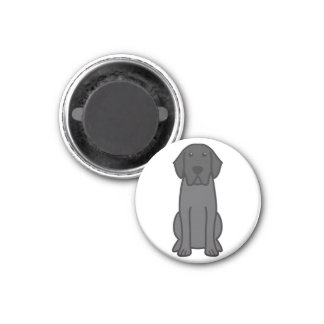Labrador Retriever Dog Cartoon Refrigerator Magnet