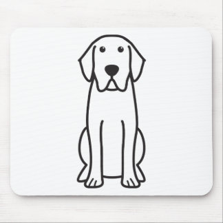 Labrador Retriever Dog Cartoon Mouse Pad