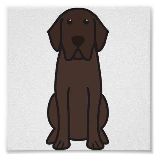 Labrador Retriever Dog Cartoon Poster