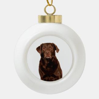 Labrador Retriever Dog Ceramic Round Ornament
