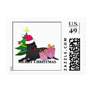 Labrador Retriever Dog Christmas Stamps