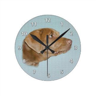 Labrador Retriever Dog,  Customizable Round Wallclocks