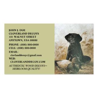 LABRADOR RETRIEVER DOG & DECOY ~BUSINESS CARDS!