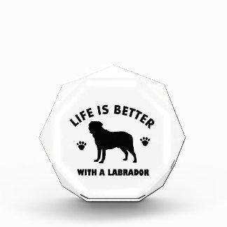 Labrador Retriever dog design Acrylic Award