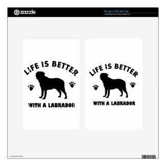 Labrador Retriever dog design Decal For Kindle Fire