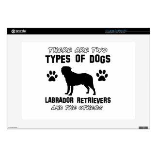 """Labrador retriever dog Designs 15"""" Laptop Skins"""