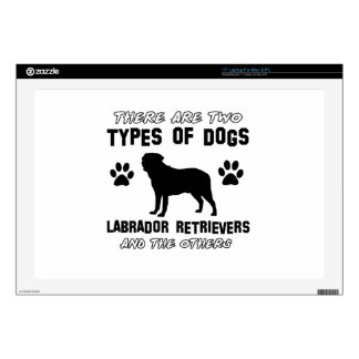 """Labrador retriever dog Designs Decal For 17"""" Laptop"""
