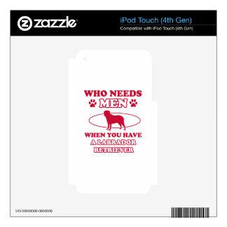 LABRADOR RETRIEVER DOG DESIGNS iPod TOUCH 4G SKIN