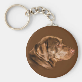 Labrador Retriever Dog Keychain, Customizable Basic Round Button Keychain