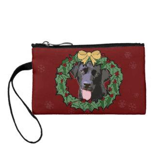 Labrador Retriever Dog: Lab Dog for Christmas 2 Coin Purse