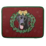 Labrador Retriever Dog: Lab Dog for Christmas 2 Sleeve For MacBooks