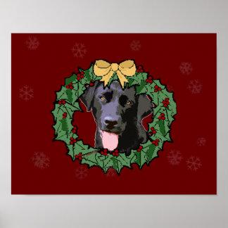 Labrador Retriever Dog: Lab Dog for Christmas 2 Posters