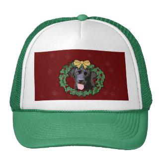 Labrador Retriever Dog: Lab Dog for Christmas Hat