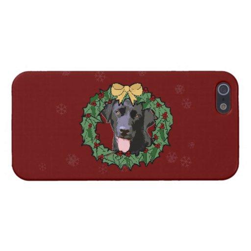 Labrador Retriever Dog: Lab Dog for Christmas Cover For iPhone 5
